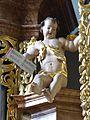 Waidhofen Thaya Pfarrkirche - Orgel 6c Putto mit Notenblatt.jpg