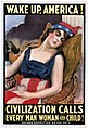 Wake up America! Civilization calls every man, woman and child! - James Montgomery Flagg. LCCN91726511FXD.jpg