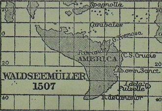 Waldseemüller map - Image: Waldseemüller quadratic
