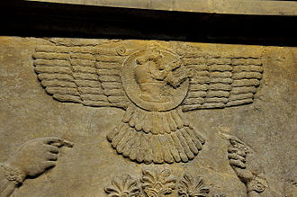Ashur (god) - Wall relief depicting the God Ashur (Assur) from Nimrud.