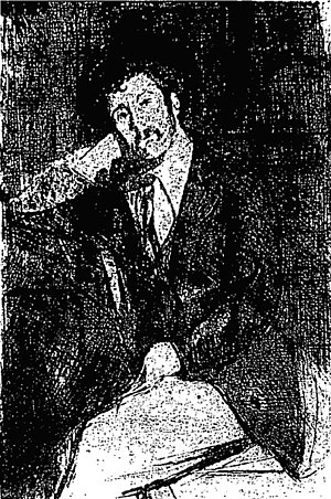 Walter Greaves (artist) - Walter Greaves - etched self-portrait (1900)