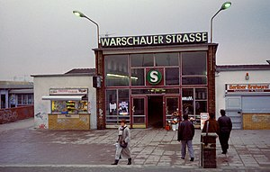 Berlin Warschauer Straße station - S-Bahn Warschauer Straße station (1994)