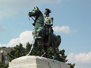 Lieutenant General George Washington (statue) - Image: Washington Circle Equestrian Statue
