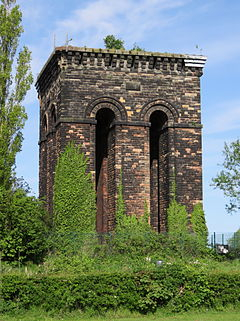Water tower on Tower Hill, Ormskirk.JPG