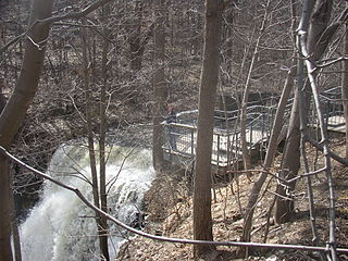Boundary Falls, Waterdown waterfall in Waterdown, Ontario, Canada