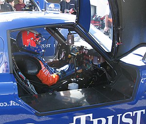 Daytona Prototype - Driver Wayne Taylor sitting in the cockpit of his Daytona Prototype.