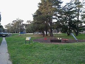 Weetangera, Australian Capital Territory - Site of original Weetangera school, looking north to Belconnen Way.
