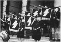 Weihestunde der HJ vor dem Rathaus in Tomaschow am 11.5.1941. Hitler Youth Hour of Commemoration in front of the Town... - NARA - 540131.tif