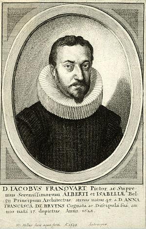 Jacob Franquart - A 1648 engraving of Jacob Franquart by Wenceslas Hollar