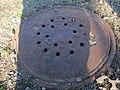 West End Street Railway manhole at Fairbanks station, April 2016.JPG