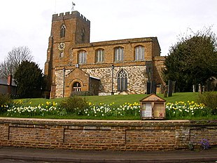 All Saints Church in the village