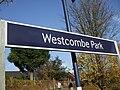 Westcombe Park stn signage.JPG
