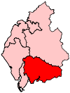 A medium-to-large constituency in the south of the county.