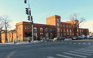 Wethersfield Avenue Car Barn historic building in Hartford, Connecticut, USA