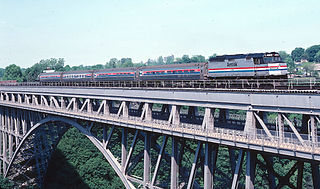 passenger train service operated by Amtrak and Via Rail