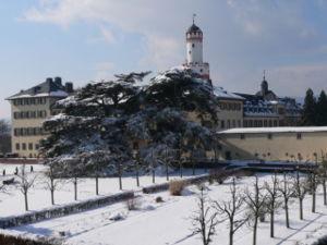 Bad Homburg vor der Höhe -  White Tower, viewed from Loewengasse 7