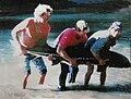 White sturgeon (91 inches) Russian River's Haciendo Hole 1998.jpg