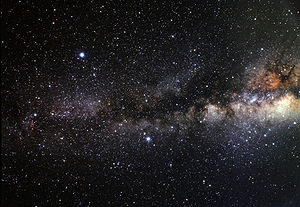 Deneb - Wide-field view of the Summer Triangle and Milky Way. Deneb is at the left of the frame