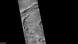 Phaethontis quadrangle - West side of Nansen Crater, as seen by CTX camera (on Mars Reconnaissance Orbiter).