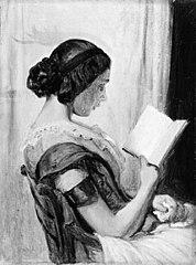 Læsende ung pige