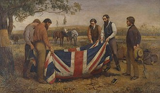 Robert O'Hara Burke - William Strutt, Burial of Burke, 1911, State Library of Victoria