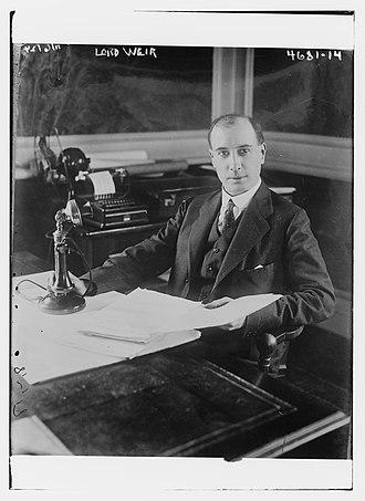 William Weir, 1st Viscount Weir - Weir in 1918