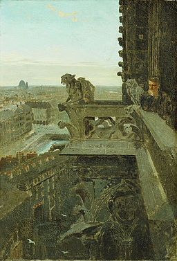 Winslow Homer - Gargoyles at Notre Dame (1867)