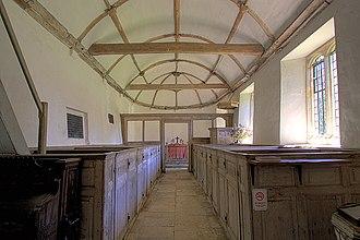 Winterborne Tomson - Interior of St Andrew's Church at Winterborne Tomson.
