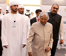 With Dr. APJ Abdul Kalam to the venue.jpg