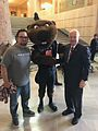 With staff and Beaver at the capitol (33859790810).jpg
