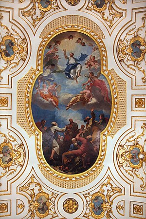 Antonio Bellucci -  Ascension of Jesus Christ by Antonio Bellucci - ceiling painting in Great Witley Church, England