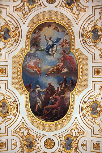 Witley Court - Ascension of Jesus Christ by Antonio Bellucci – ceiling painting in Great Witley Church, the former Chapel of the House