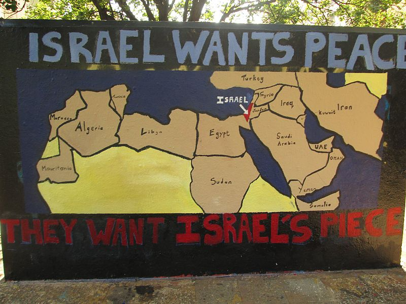File:Wits Graffiti Wall Pro Israel Message.jpg