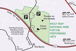 Wolf Trap National Park for the Performing Arts performing arts center in Fairfax County, Virginia, United States