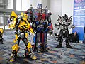 WonderCon 2012 - Bumblebee, Optimus Prime, and Ironhide (6873353082).jpg