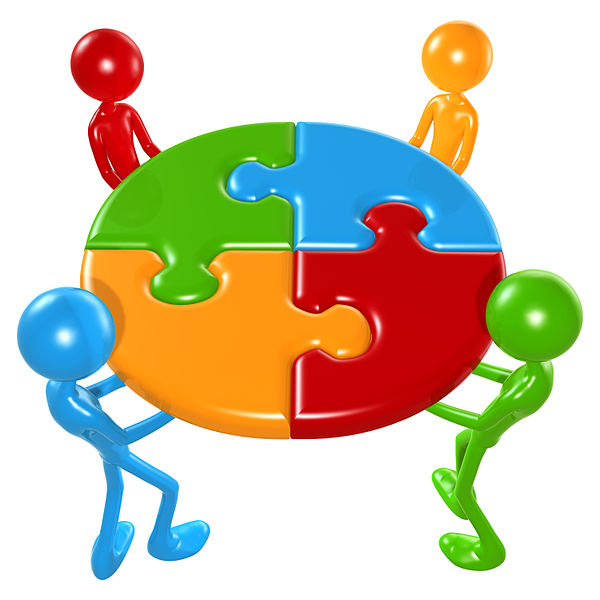 File:Working Together Teamwork Puzzle Concept.jpg
