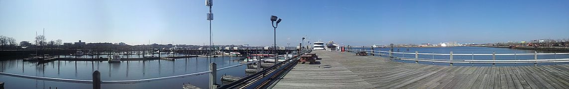 Worlds Fair Marina, Pier 1 just inside the gate.jpg