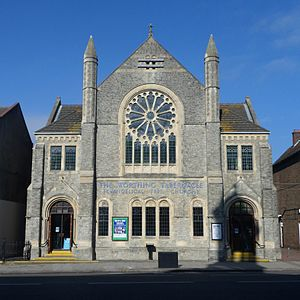 Worthing Tabernacle - The church from the west