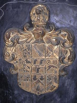 John Wyndham (1558–1645) - Heraldic achievement of Sir John Wyndham, Watchet Church