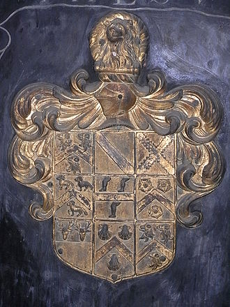 John Wyndham (1558–1645) - Heraldic achievement of Sir John Wyndham, Watchet Church