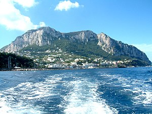 Capri - View of Capri from the sea