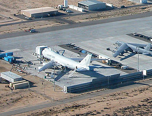Boeing YAL-1 - YAL-1 undergoing modification in November 2004, at Edwards AFB