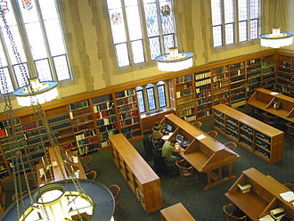 Lillian Goldman Law Library - View of Reading Room from above