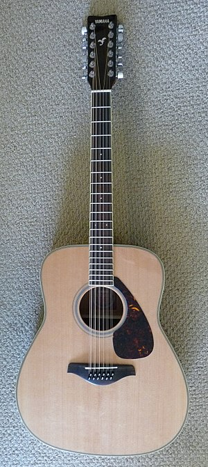 Twelve-string guitar - An acoustic 12-string guitar. The example shown is the Yamaha FG720S-12.