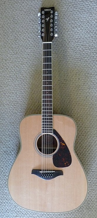 Twelve-string guitar - An acoustic 12-string guitar: the Yamaha FG720S-12.