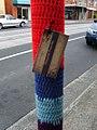 Yarn Bomb pole (5508524216).jpg