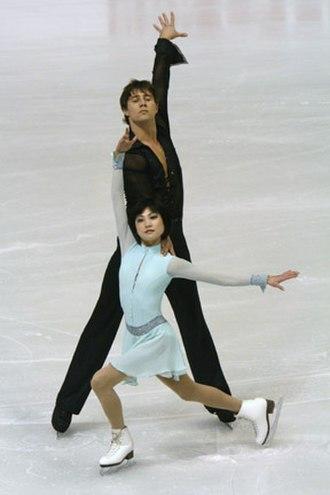Alexander Smirnov (figure skater) - Kavaguti/Smirnov at the 2008 European Championships