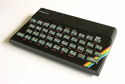 A Sinclair ZX Spectrum which used a Z80 Clocked at 3.5 MHz ZX Spectrum.jpg
