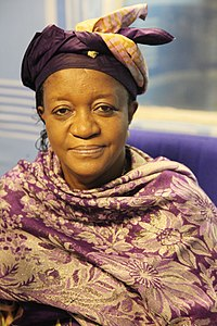 Zainab Bangura giving a radio interview in Kinshasa (8654821769).jpg