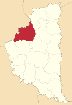 Location of Zborivas rajons